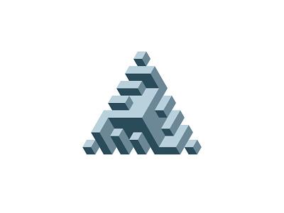 Triankelion Logo isometric triskelion triskele triangle symmetrical design 3d geometric vector logomark mark logo