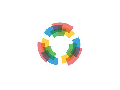 Concentric Logo semitransparent arcs concentric circle symmetrical design geometric vector logomark mark logo