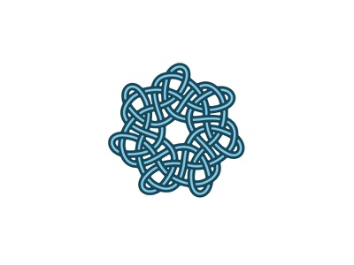 Intrica Logo topology knot mathematical design wreath circular seven-point star geometric symmetrical vector logomark mark logo