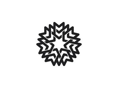 Heptaknot Logo line intricate abstract black knot star heptagon symmetrical design geometric vector logomark mark logo