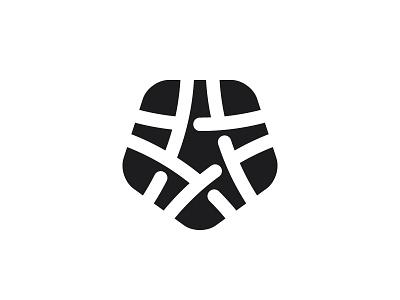 Strellanodum Logo knot negative space star symmetrical design geometric vector logomark mark logo