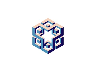 Tekton Logo hexagon cube 3d symmetrical design geometric vector logomark mark logo