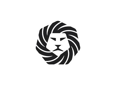 Leo Logo black pentagon heptagon lion design geometric vector logomark mark logo