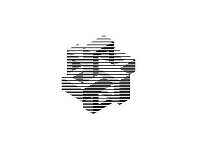 Conundrum Logo shading isometric high tech connection negative space lines 3d symmetrical design geometric vector logomark mark logo