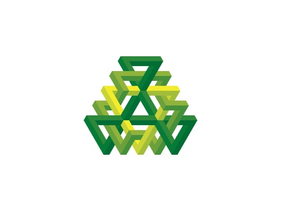 Triangularity Logo impossible object optical illusion triangle 3d symmetrical design geometric vector logomark mark logo