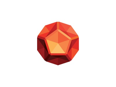 Dodecah Logo science technology mathematical abstract shiny dodecahedron 3d symmetrical design geometric vector logomark mark logo