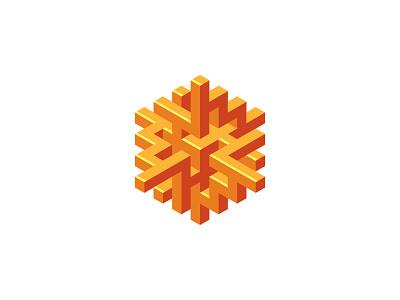 Heliorum Logo invite sun shiny isometric intricate hexagon 3d symmetrical design geometric vector logomark mark logo