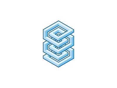 Spiro Logo abstract intricate spiral 3d symmetrical design geometric vector logomark mark logo
