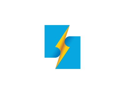 Voltage Logo zap electric high voltage lightning thunderbolt page document paper symmetrical design geometric vector logomark mark logo