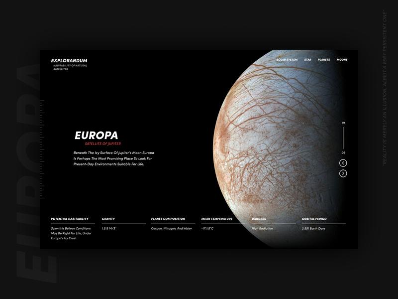 Satellite habitability / 01 ux art direction web design ui space design