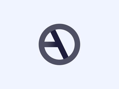A + D symbol grey shadow letters letter d a branding brand mark logotype logo