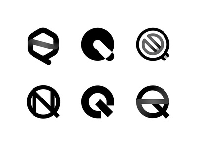 Q Monogram branding typography minimal mark brand logotype design research icon letter gradient black logo monogram q