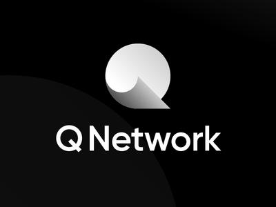Q logo shadow gradient minimal branding letter design logotype brand mark logo icon