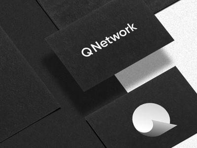Q logo gradient shadow branding minimal business card letter design logotype brand mark logo icon