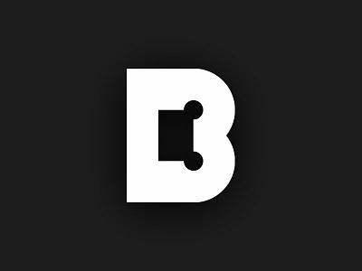 B3 monogram white black minimal brand design icon mark logo logotype blue letter letter b