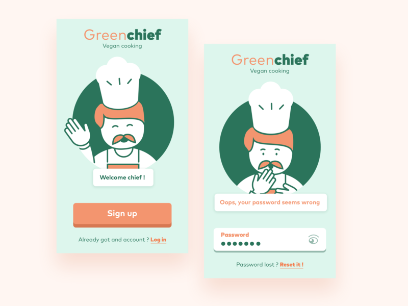 Greenchief Sign Up sketch signup dayliui ui design vector illustration