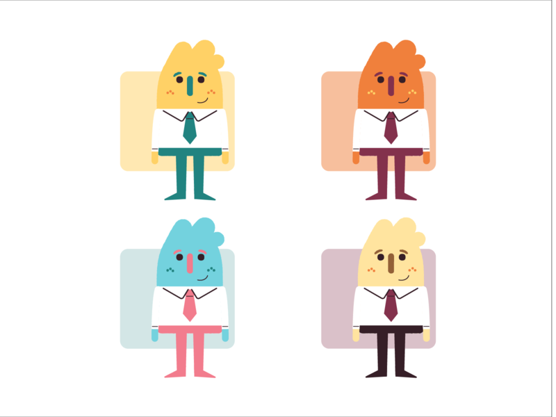 Andy Character Concepts worker office tie character art character employee fun concept character design