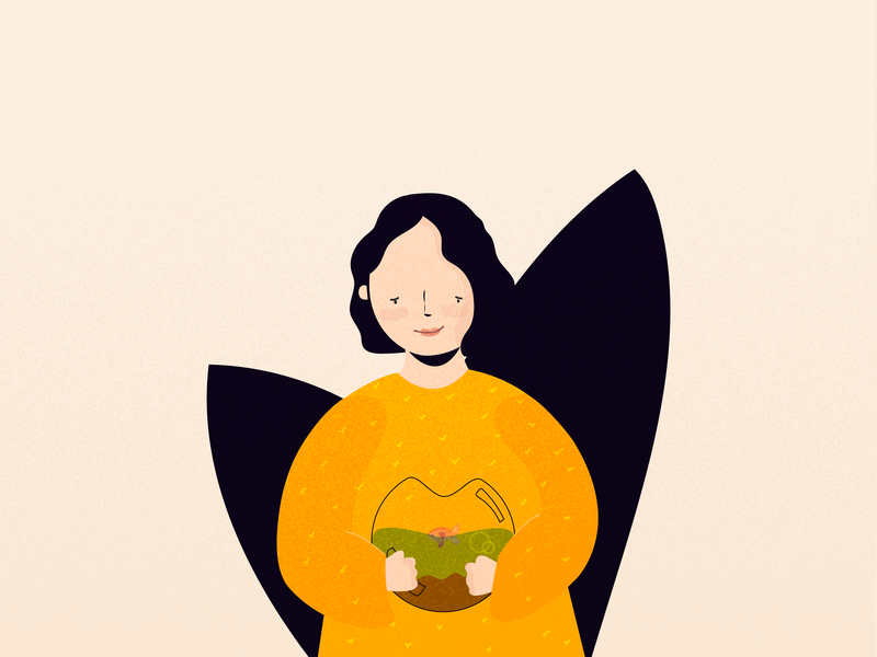 A smile to remember cute girl flat illustrator woman character graphic illustration design