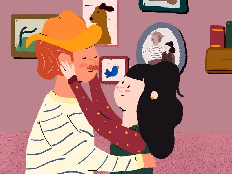 Gudrun And Gudbrand children illustration children book couple cute illustration