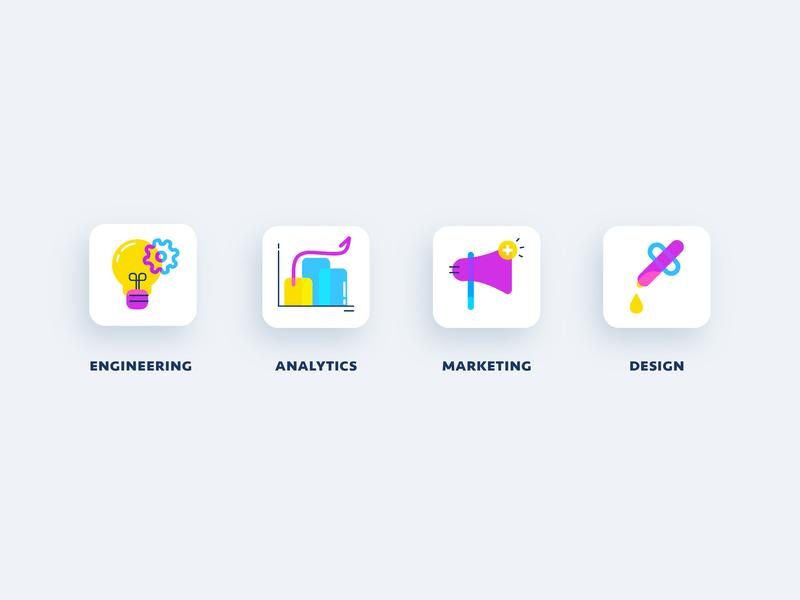 CMYK icon set uidesigns graphic icon design uidesign ui design icons marketing icons