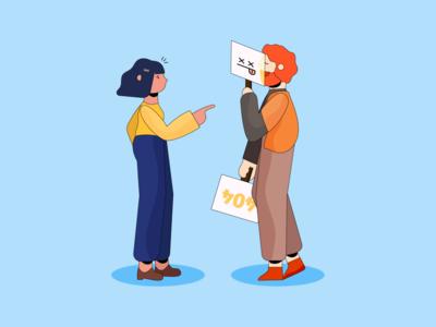 Glitch. playoff wix 404 error glitch couples characters illustration