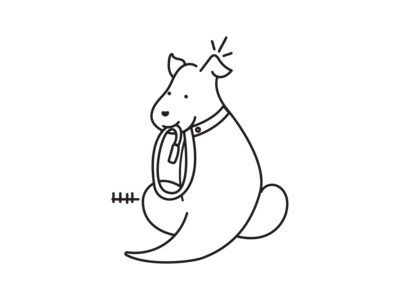 Doggie business logo dog walking cute doggie dog illustration doggy logodesign logotype design art dog lineal logo design