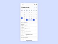 Schedule — 071 #dailyui