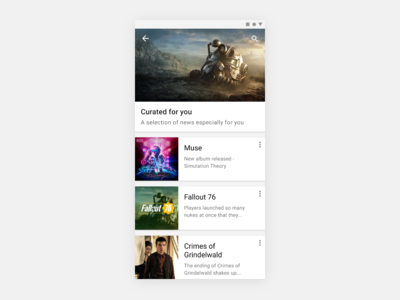 Curated For You — 091 #dailyui