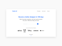 Redesign Daily Ui Landing Page — 100 #dailyui