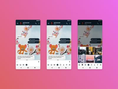 Telegram — Redesign Сhat and Attachment Menu