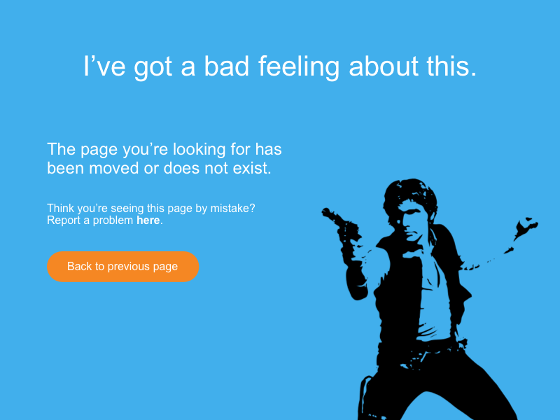 Han Solo 404 Not Found responsive web desktop han solo star wars daily ui 404