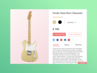 Music E-Commerce Shop Product Page