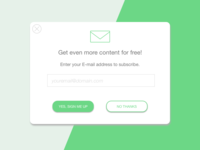 Email Signup Popup for Online Content Platform