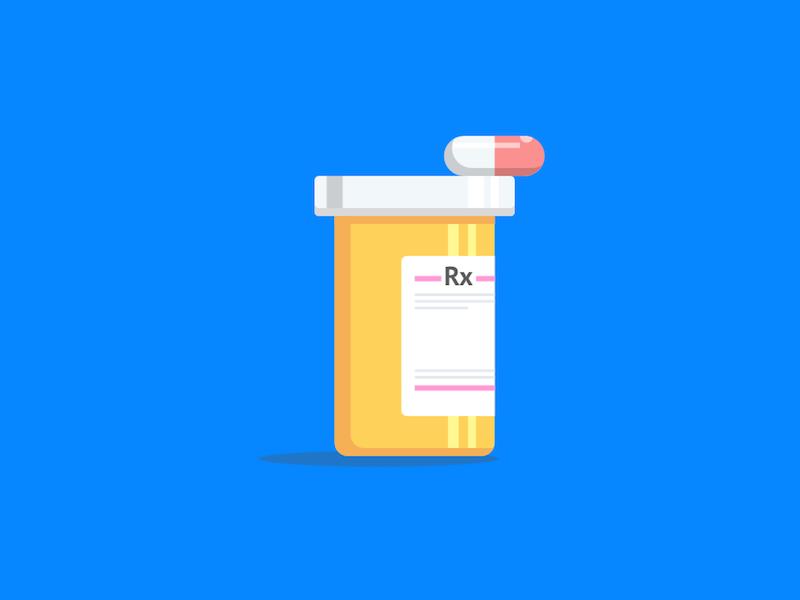 Prescription Bottle Illustration abhijeet wankhade graphic design graphic vector sketch illustration