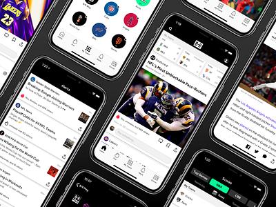 Bleacher Report App bleacher report interface uiux sports app design