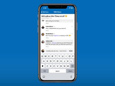 Conversation View 🗣️ social comments conversation uiux app design sports bleacher report