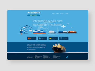 Interports Logística uxdesign userexperience landingpage webdesigner creative graphicdesign website webdesign web mockup wireframe interface ui ceciliomendes