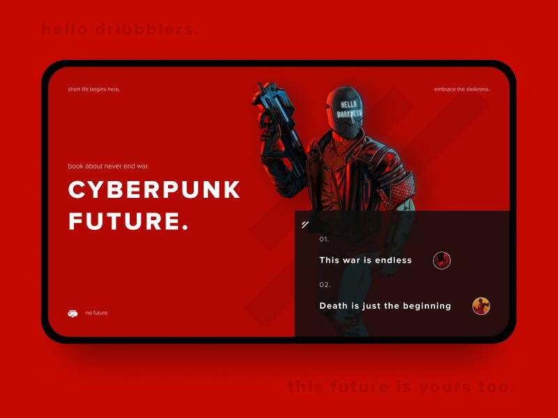 take it seriously. minimalism minimal proxima red ruiner cyberpunk landing design mainpage heroscreen landing web typography icon design ui