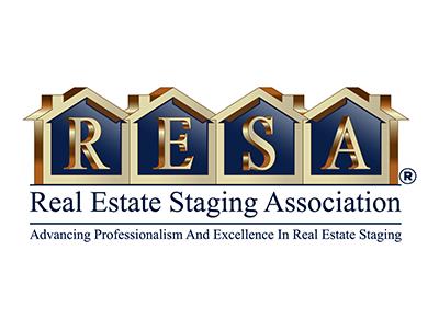 Resa Estate Staging Association modern branding logo design adobe illustrator
