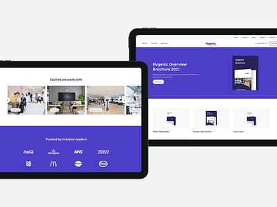 Hygenic - Website Design   03 agency ux digital agency website ui design agency design