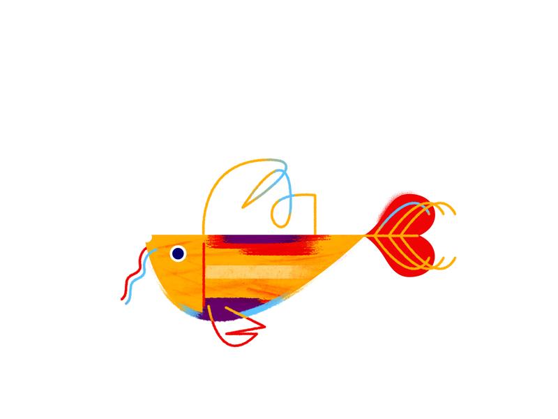 Fish animals fish logo texture color fish