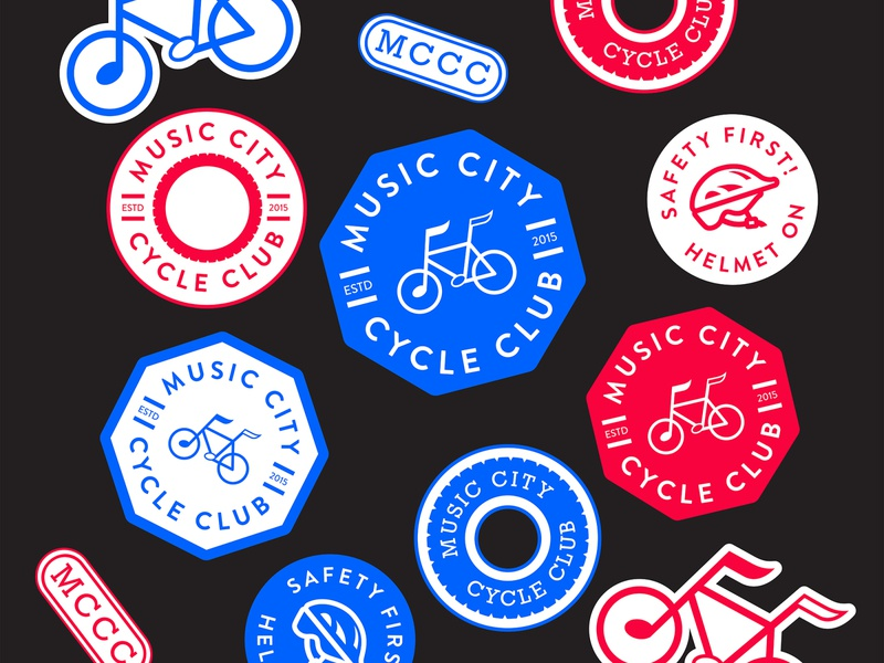 Music City Cycle Club Branding nashville badge logo logotype logodesign bicycles bike rental branding