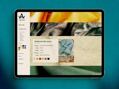 Ashworth Textiles WebStore concept