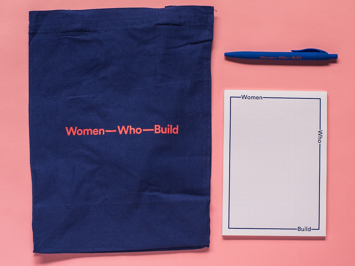 Women Who Build Materials packaging design merch swag print packaging