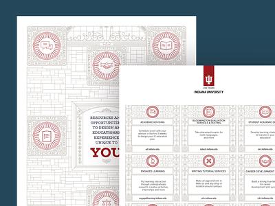 Folder Design For Indiana University Bloomington folder higher education bloomington indiana art direction print illustration