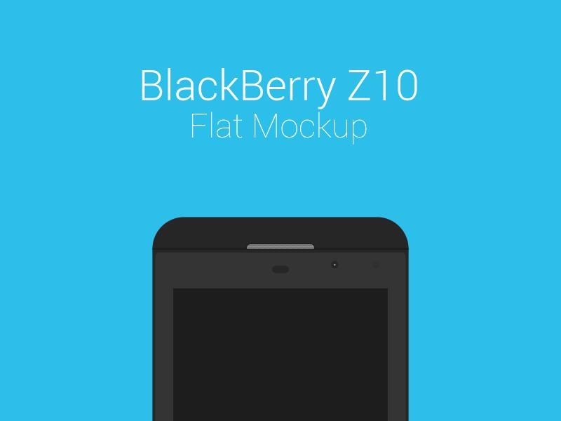 BlackBerry Z10 Freebie Flat Mockup freebie blackberry mockup z10 flat mobile free