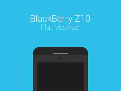 BlackBerry Z10 Freebie Flat Mockup