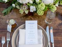 G+S wedding menu