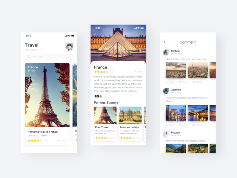 Travel interactions interface travel icon app design ux ui