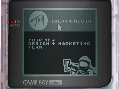 Website on Game Boy web design pixel art gameboy